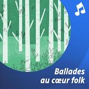 Des branches d'arbres, des feuilles et des notes de musique autour du manche d'une guitare.