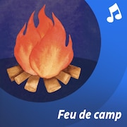 Des jeunes autour d'un feu.