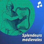 Un trouvère joue de la lyre.